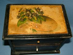 Victorian Clark & Co Anchor Sewing Cotton Sewing Box Vintage Box Vintage Sewing…