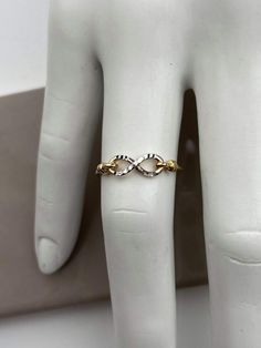 Bague ''infini'' 2 tons Minimalist Jewelry, Or, Gold Rings