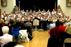 Pictured is our choir concert for the community.  What a wonderful way to spend an evening with family and friends.  Pictured:  Sunland Spring, Mesa, AZ