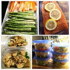 Another week of meal prepping : high protein, low carb and lots of vegetables
