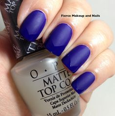 Fierce Makeup and Nails: OPI Matte Top Coat Spam Post