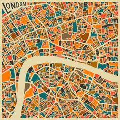 Художник Джазберри Блю изобразил планы известных городов мира в виде мозаик