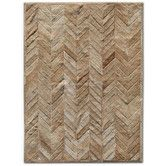 Found it at Wayfair - Patchwork Cowhide Yves Wheat Rug