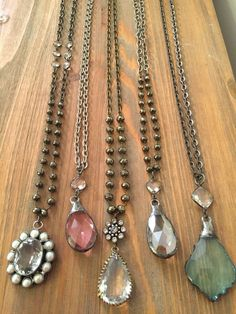One of a kind vintage crystals and gemstone jewelry. Lisajilljewelry - One of a kind vintage crystals and gemstone jewelry. Crystal Jewelry, Gemstone Jewelry, Beaded Jewelry, Jewelry Necklaces, Jewlery, Diy Necklace, Statement Necklaces, Silver Jewelry, Pendant Necklace