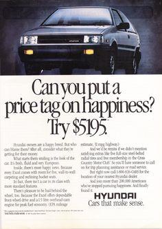 Vintage+Hyundai+Excel+Magazine+Advertisement