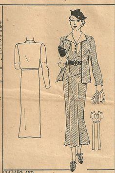 Vintage 30s Mail Order Sewing Pattern 687 by studioGpatterns, $26.50