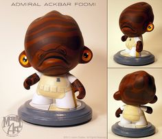 Admiral Ackbar Munny by Jason Chalker up for vote in kidrobot's contest.