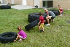 Family Time! crossfit K: We have tires in our yard! Lol