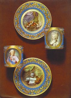 Sevres cups with portraits of Louis XVI & Marie Antoinette