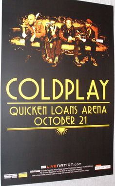 ColdPlay Poster Concert $9.84  #ColdPlay