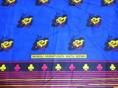African Fabrics Nida Kanga Khanga Sarong /Fabrics For Dress Bags,Skirt making/Craft Making Fabrics/ Kanga Lesso/Tissues Africa/Kanga Fabrics Craft Making, East Africa, African Fabric, Piece Of Clothing, Tanzania, Dress Making, Crafts To Make, Delicate, Fabrics