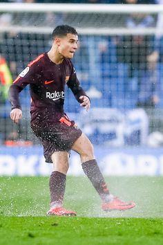 FC Barcelona midfielder Philippe Coutinho during the match between RCD Espanyol vs FC Barcelona, for the round 22 of the Liga Santander, played at Cornella -El Prat Stadium on February 2018 in. Get premium, high resolution news photos at Getty Images Soccer Guys, Soccer Players, Rcd Espanyol, Neymar Jr, Barcelona Spain, Messi, Fifa, Sexy Men, Idol