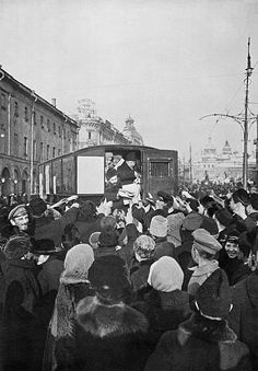 1917 Moscow First days of the February Revolution Distribution of literature in Moscow Reproduction Photo TASS/ Getty Images