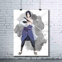 Sasuke Uchiha - Naruto Printables - Anime Decor - Sasuke - Naruto Shippuden - Watercolor Print - Wall Art - Sasuke Poster - Uchiha - pinned by pin4etsy.com