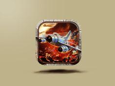 Jet Commander Game Icon by Mansoor #Design Popular #Dribbble #shots