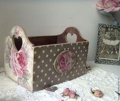 """Купить Набор коробов для хранения """"Romantic"""" - розовый, короб для хранения, короб для кухни, розы"""