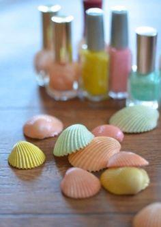 DIY nail polish shells