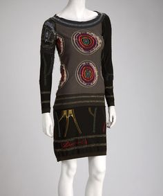 Take a look at this Olive Bulls-Eye Dress by Desigual Women on #zulily today!