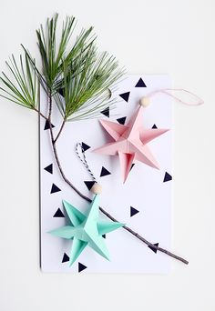 DIY Paper Star Ornaments Tutorial