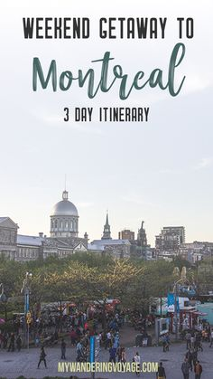 Your three-day itinerary for a weekend getaway to Montreal – Montreal, Quebec, Canada is a perfect place to escape for the weekend. The French-Canadian city has a lot to offer for any weekend warrior Voyage Montreal, Montreal Travel, Montreal Ville, Montreal Quebec, Quebec City, Montreal Food, Weekend Vacations, Weekend Trips, Weekend Getaways