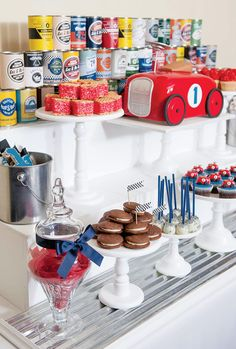 Vintage Race Car Dessert Table // Hostess with the Mostess®