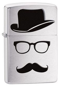 Moustache Hat Zippo Lighter