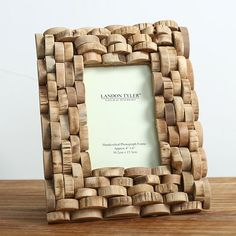 Wood photo frame picture frame handmade home decoration Wine Cork Projects, Wine Cork Crafts, Frame Crafts, Diy Frame, Cork Art, Photo Picture Frames, Photo On Wood, Handmade Home, Paper Crafts