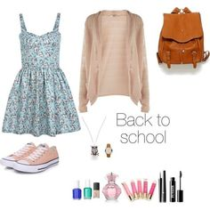 Cute back to school outfit.