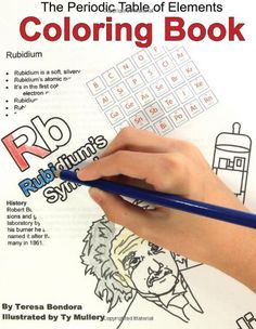 gift idea for science lovers the periodic table of elements coloring book