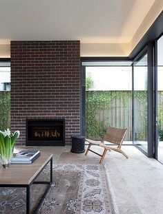 """Decorative Tile and Brick - Randwick Residence, New South Wales, by madeleineblanchfield.com.""""Fire Power: home is where the hearth is"""" July 14, 2014, SMH, Susan Redman"""
