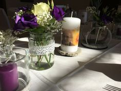 Kerzen gestalten Vorlagen und Kerzen Ideen | amicanda | amicanda Large Group Meals, Purple Wine, Balsamic Beef, Wedding Dress Sleeves, Cake Plates, Food Items, Potpourri, Pillar Candles, Crock
