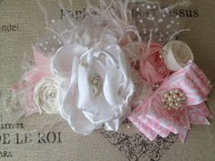 Pink Champagne bow headband by CozetteCouture on Etsy, $31.99