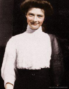 Grand Duchess Tatiana Nikolaevna Romanova (10 Jun 1897-17 Jul 1918), 2nd child of Tsar Nicholas II  Romanov (1868- 1918) Russia & his wife Alix-Alexandra Feodorovna (1872-1918) Hesse, Germany.