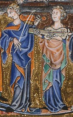 Rebec and citole in Gorleston Psalter c. 1310-1326. Page f107v. http://www.bl.uk/manuscripts/FullDisplay.aspx?ref=add_ms_49622