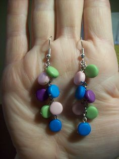 Colorful handmade earrings