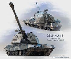 Russian 2S19 Msta-S (152-mm Self-propelled Howitzer) #artwork