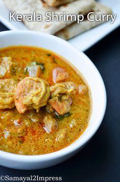 Kerala style prawn curry recipe,prawn curry with coconut milk.