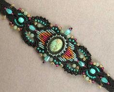 Joan Babcock, bracelet with bezeled turquoise
