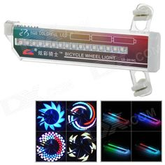 LC-D016C Colorful 32 LED Lights Water Resistant Wheel Lamp for Bike - Multicolored (3 x AAA) Price: $13.20