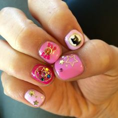 Super cute Sailor Moon Nail art I found on facebook!
