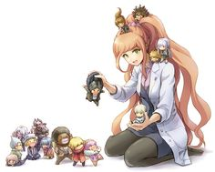 Dangan ronpa 3 despair arc. She looks so happy until you realize she's playing with puppets and intends to kill everyone. Haha.