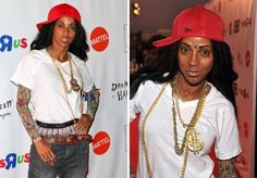 The Best Celebrity Halloween Costumes of Years Past:  Holly Robinson Peete as Lil Wayne