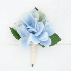 Pale Blue Hydrangea Buttonhole