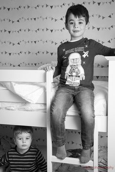 345/366 - Upper floor - My two little helpers and I spent all day today building their new bunk beds.  Jumbo really has gone up in the world.
