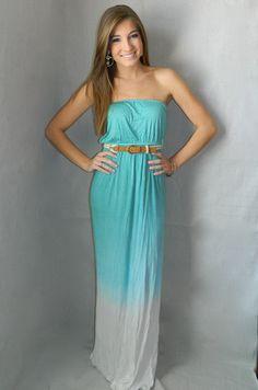 Malibu Maxi Dress (Turquoise) | Girly Girl Boutique - Only $37!