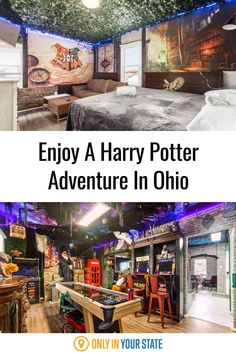 This magical themed Airbnb in Ohio is the perfect getaway or overnight adventure for any Harry Potter fan. McGonagall's Mansion is located near Columbus and has plenty of Potter decor plus its own game room. Best Bucket List, The Buckeye State, Stay Overnight, The Perfect Getaway, Hidden Beach, Cornhole Set, Swimming Holes, Covered Bridges, Future Travel
