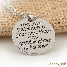 """✨Grandmother Necklace NWT - tiny heart charm & round pendant inscribed """" the love for grandmother & granddaughter is forever"""" in 18"""" silver alloy necklace. Lobster closure with 3"""" extension. Pendant size 1"""" x 1"""" Jewelry Necklaces"""