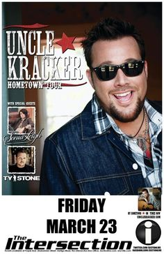 Uncle Kracker. The Intersection. Grand Rapids, MI. March 23, 2012