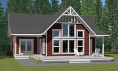The Summit 1810sqft 4 bed 3 bath Prefab Cabin and Cottage Plans | Winton Homes