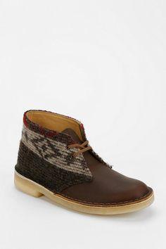 Clarks Desert Wool Panel Ankle Boot